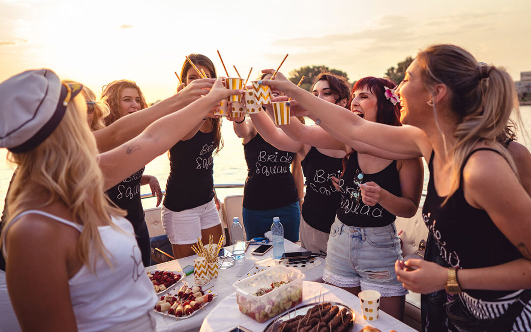 Bachelorette Party Cheers on Private Boat Rental